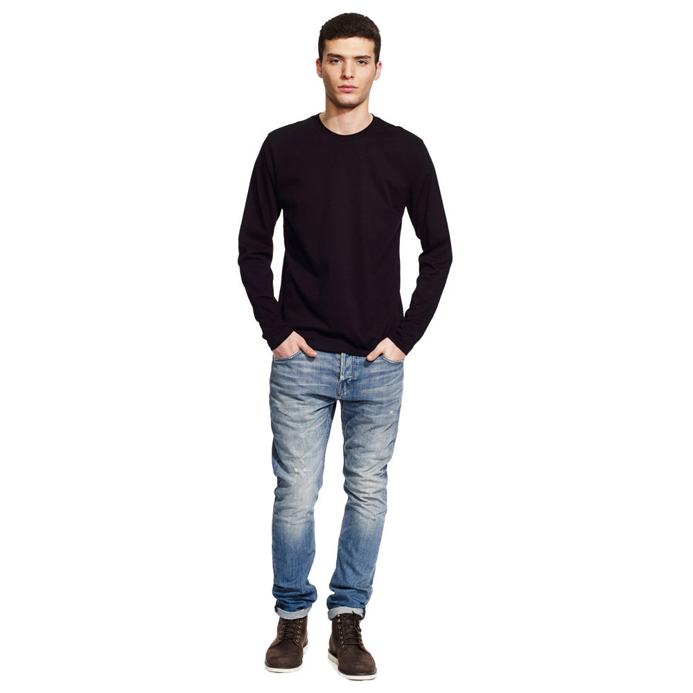 Continental clothing mens long sleeve t shirt green premium for Mens jeans and dress shirt