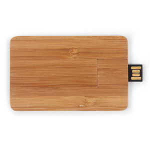 eco usb sticks - voorbeeld: usb stick hout credit card