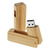 usb stick swivel bamboe of hout