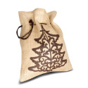 jute tas custom made kerst drawstring