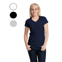 Neutral ladies v-neck t-shirt