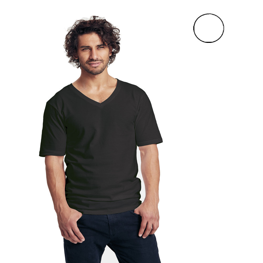 Neutral Mens Deep V Neck T Shirt Green Premium