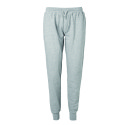 Neutral unisex sweatpants met boord grey melange