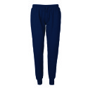 Neutral unisex sweatpants met boord navy