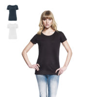 continental clothing womens bamboo open neck t-shirt