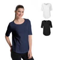 Neutral ladies half sleeve t