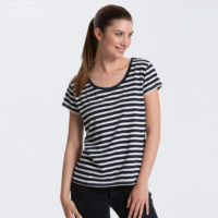 Neutral ladies loose fit t stripe