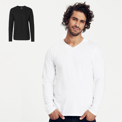 Neutral mens ls v-neck