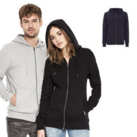 Continental Clothing unisex sweat zip up hoody 1