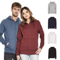 continental clothing unisex zip up hoody