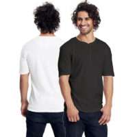 Neutral mens grandad t