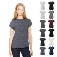 Continental Clothing womens rolled sleeve T