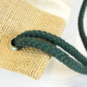 rugzak van fairtrade canvas en jute detail