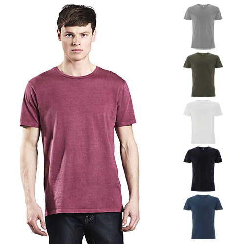 Continental Clothing mens garment dyed t-shirt