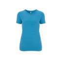Continental Clothing Salvage dames t-shirt melange mid blue