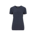 Continental Clothing Salvage dames t-shirt melange navy