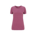 Continental Clothing Salvage dames t-shirt melange plum