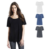 Continental Clothing womens organic cotton tencel blend oversized t-shirt