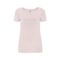 Continental Clothing womens organic open neck t-shirt light pink