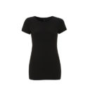 Continental Clothing womens organic slim fit t-shirt black