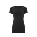 Continental Clothing womens organic slim fit t-shirt dark grey