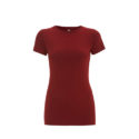 Continental Clothing womens organic slim fit t-shirt dark red