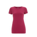 Continental Clothing womens organic slim fit t-shirt hot pink