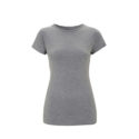 Continental Clothing womens organic slim fit t-shirt melange grey