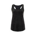 Continental Clothing womens racerback vest acid black