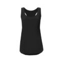Continental Clothing womens racerback vest black