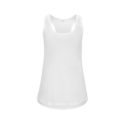 Continental Clothing womens racerback vest white