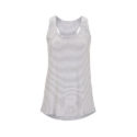 Continental Clothing womens racerback vest white melange grey stripe