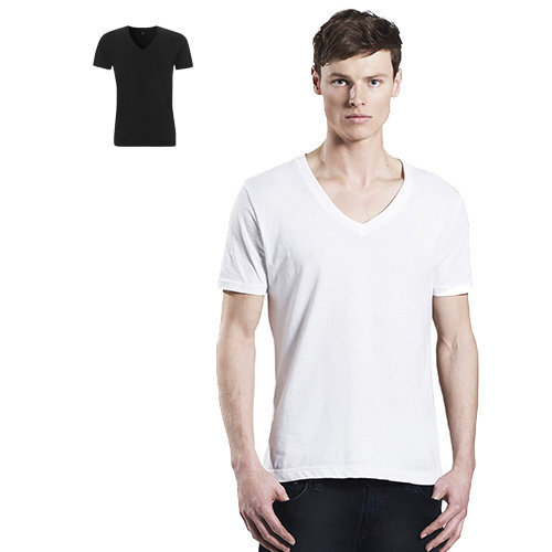 Continental Clothing men's organic V-neck T-shirt
