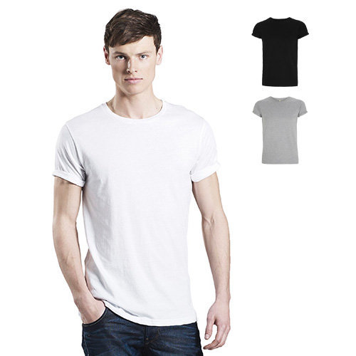 Continental Clothing Mens rolled-up sleeve T-shirt