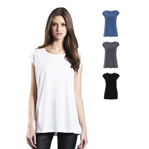 Continental Clothing Womens organic cotton tencel blend sleeveless top