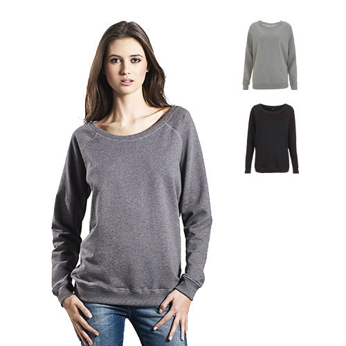 Continental Clothing Womens organic raglan sweatshirt
