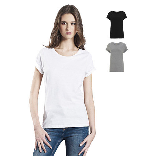Continental clothing womens rolled up sleeve t shirt for How to roll up sleeves on women s dress shirt