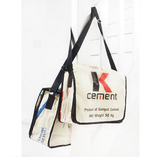 fair trade schoudertas K cement