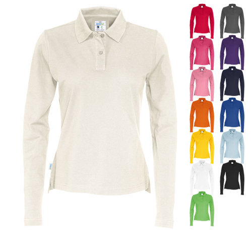 Cottover pique polo long sleeve lady