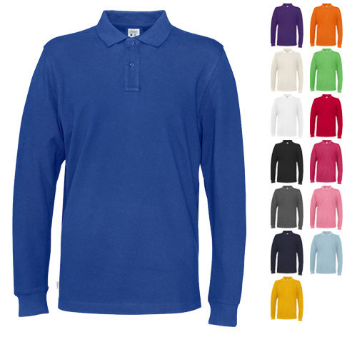 Cottover pique polo long sleeve man