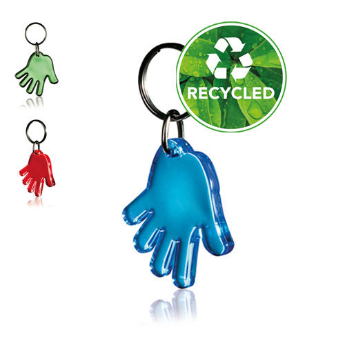 sleutelhanger hand recycle