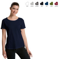 Neutral ladies roll-up t