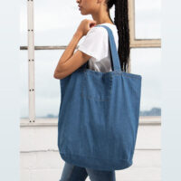 Green Premium denim shopper